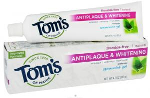 Tom's of Maine Antiplaque and Whitening Fluoride-Free Toothpaste