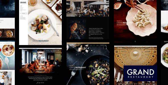 Grand Restaurant - Restaurant WordPress for Restaurant