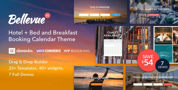 Hotel + Bed and Breakfast Booking Calendar Theme - Bellevue