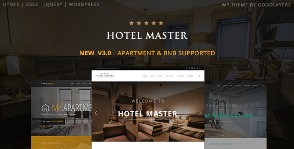 Hotel WordPress Theme For Hotel Booking