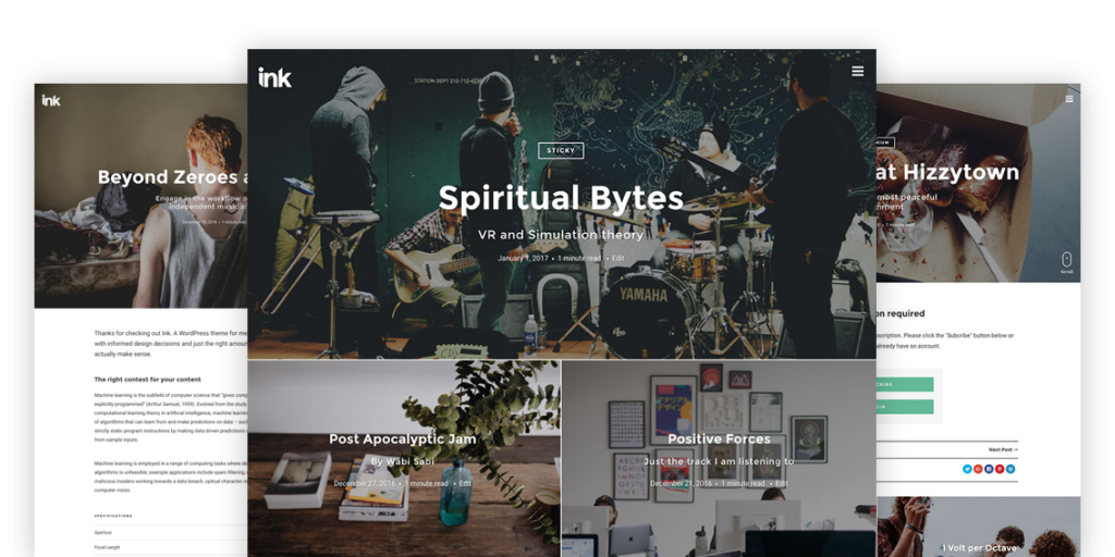 Ink — A WordPress Blogging theme to tell Stories