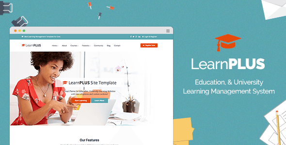 LearnPLUS - Education LMS Responsive Theme - Education