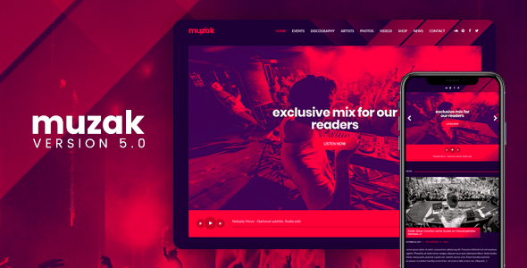Muzak - Music WordPress theme
