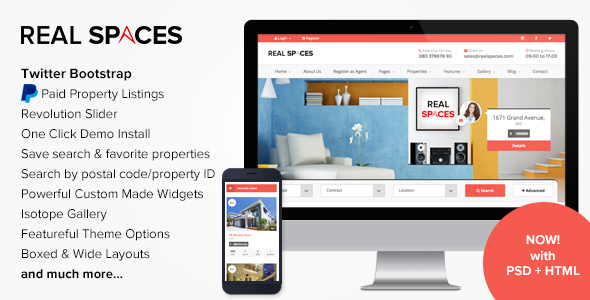 Real Spaces - WordPress Real Estate Theme
