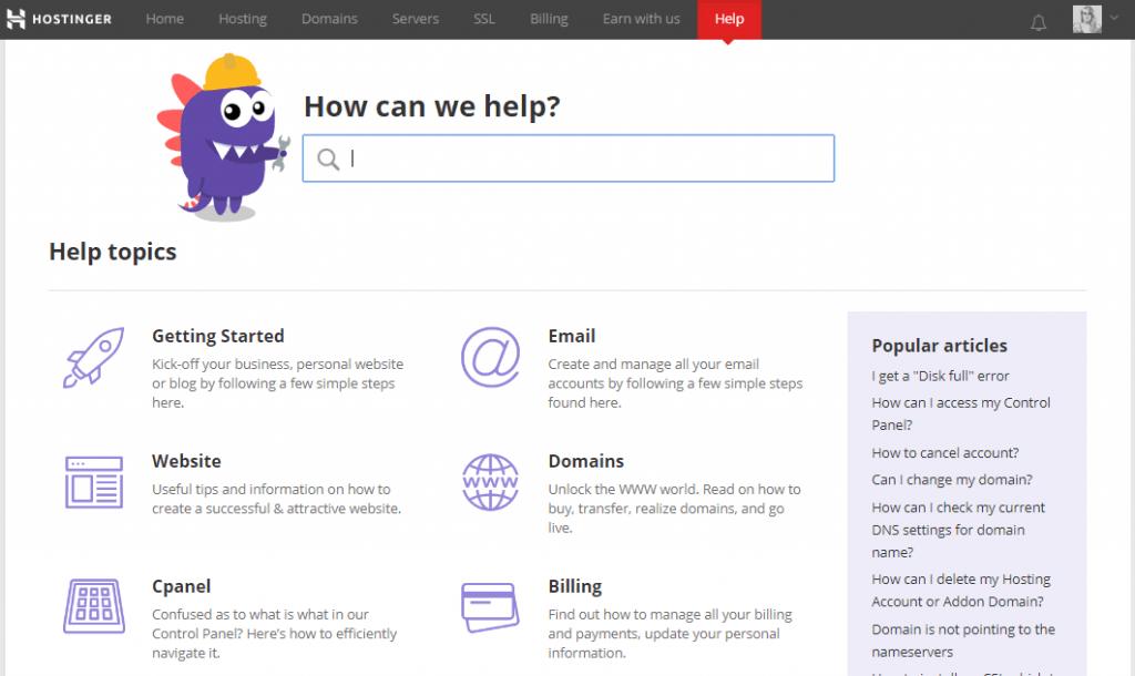 hostinger-knowledgebase