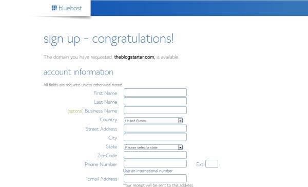 bluehost-registration