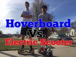 Scooter scooter vs. hoverboard