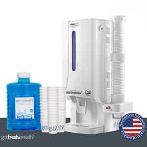 Mini-Mouthwash-Dispenser-White-For-GotFreshBreath-Alcohol-free-Mouthwash
