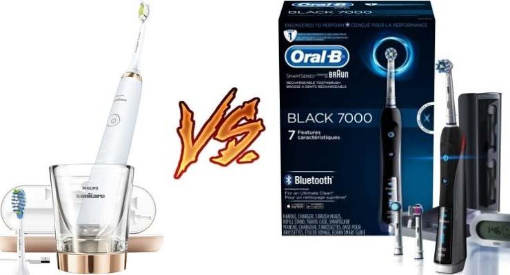 Sonicare DiamondClean vs Oral-B 7000
