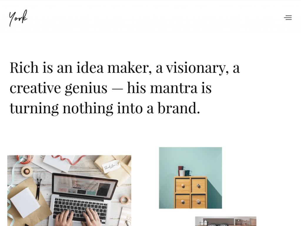 York-lite theme - Portfolio Theme for Creatives