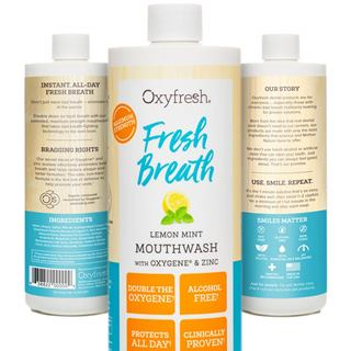 Oxyfresh Lemon Mint Mouthwash