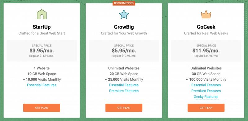 hostinger-vs-siteground-siteground-pricing